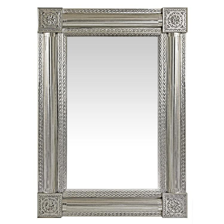 Medium Cielos Tin Mirror - Natural Finish