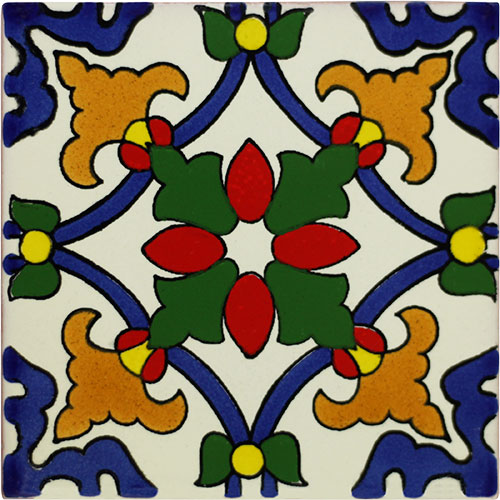 Taxco Real Hand-Painted Talavera Tile