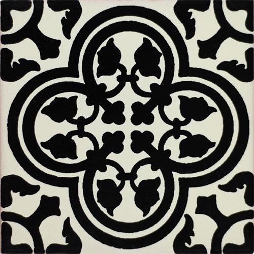 Primavera Negra Hand-Painted Talavera Tile