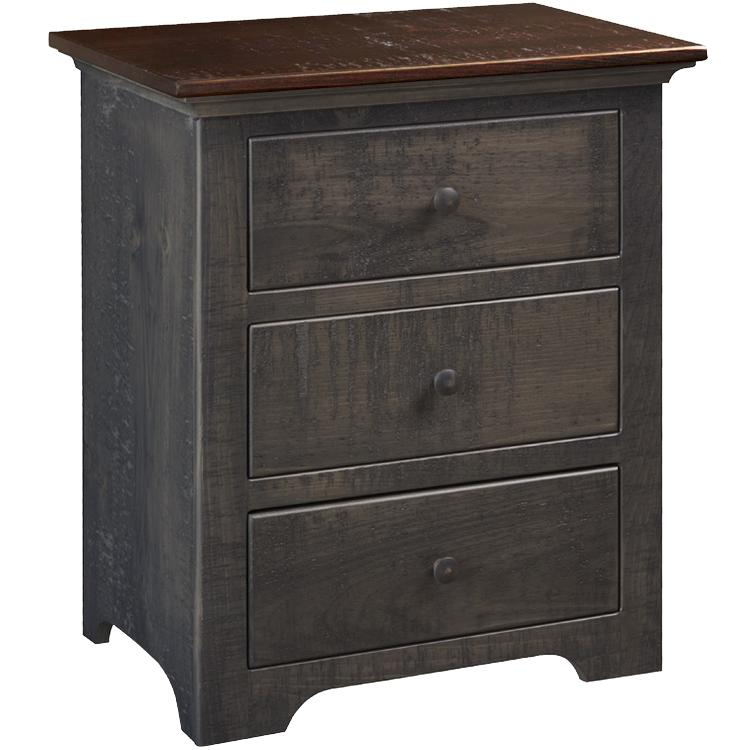 Drawer Nightstand Black Cherry Product Photo