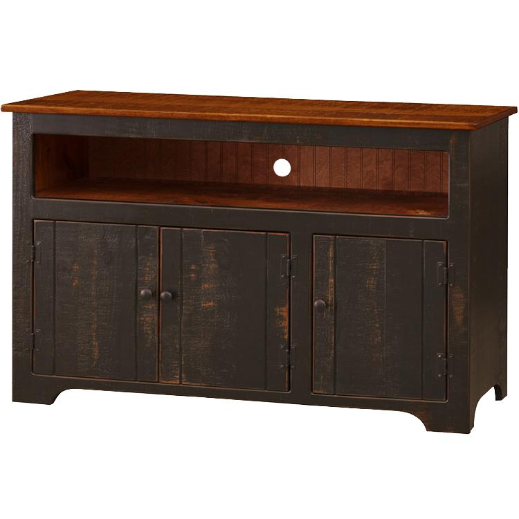 3-Door Colonial TV Stand - Tobacco
