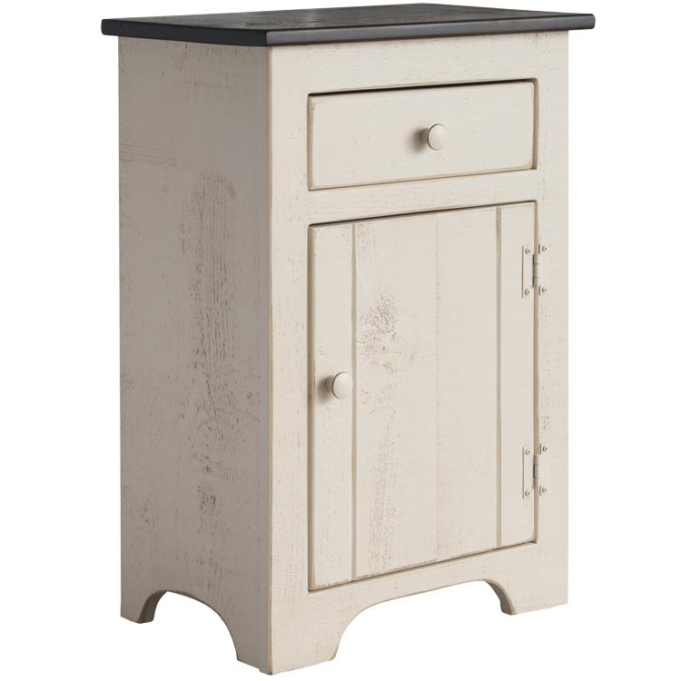 Colonial End Table - Cream & Tobacco