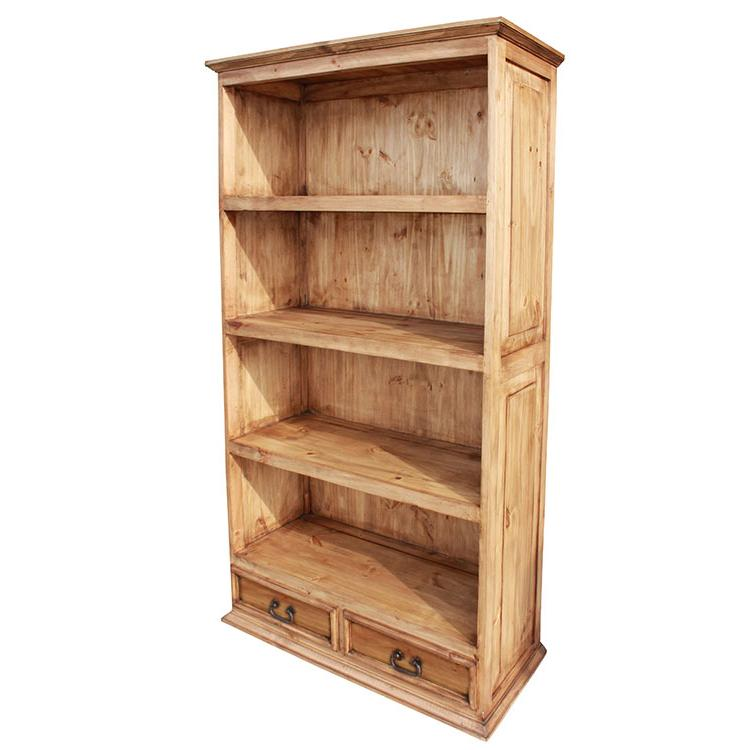 Rustic Pine Small Flat Top Bookcase Product Photo