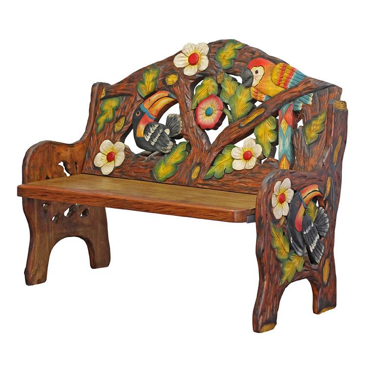 Carved Double Bench Product Photo