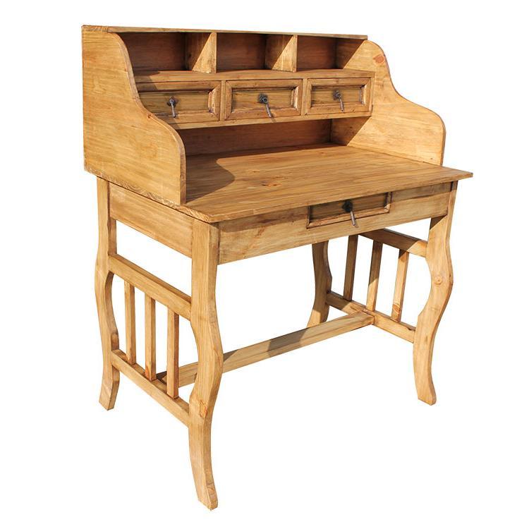 Rustic Pine Desk Hutch Product Photo