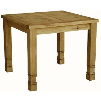 Rustic Pine Small Square Dining Table Product Photo