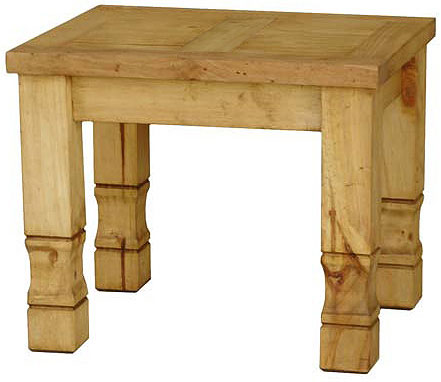 Mexican Rustic Pine Julio End Table