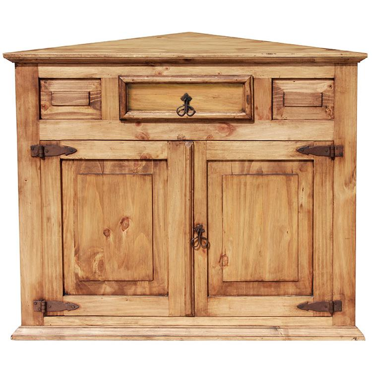 Rustic Pine Corner Cabinet Product Photo