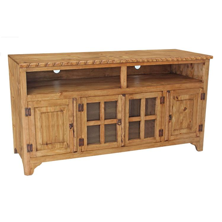 Pine Tv Stand Rope Edge Product Photo