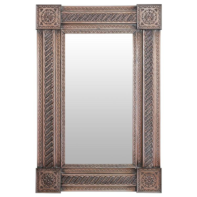 Medium Cordero Tin Mirror - Oxidized Finish