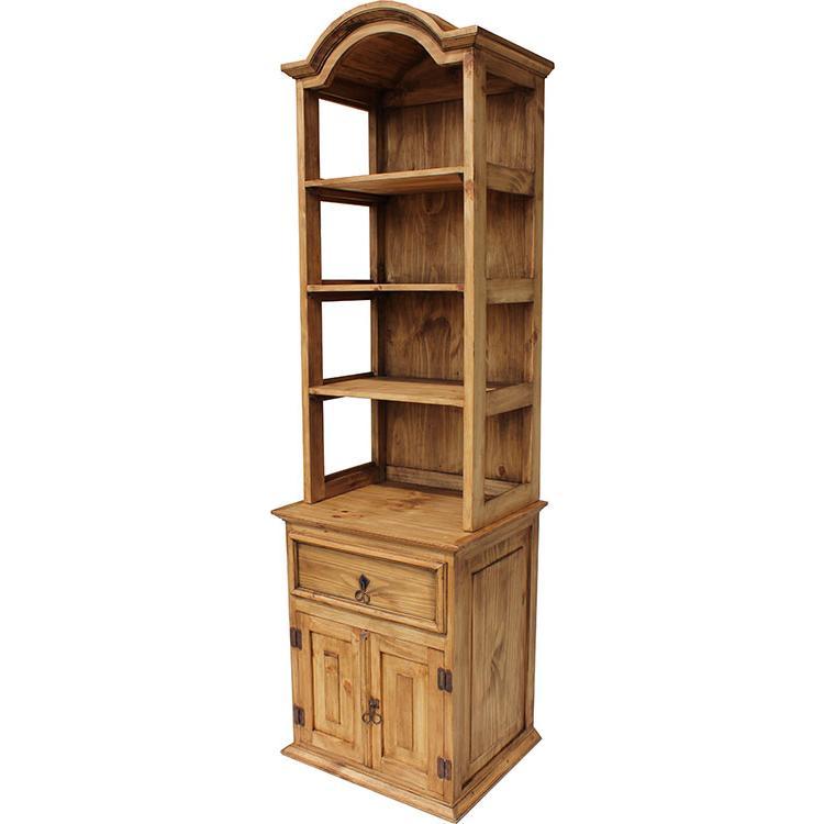 Mexican Rustic Pine Two-Door Storage Shelf