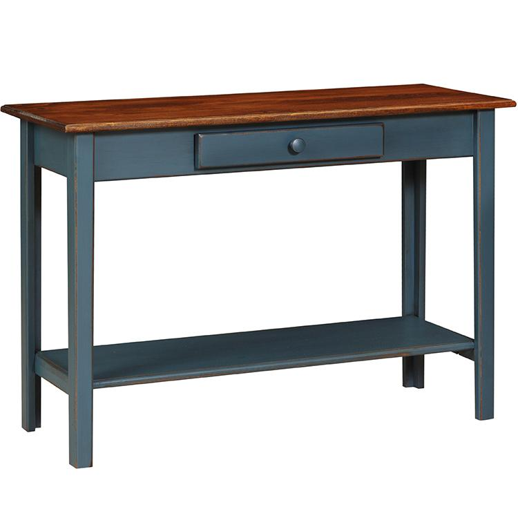 Country Sofa Table - Country Blue & Cherry