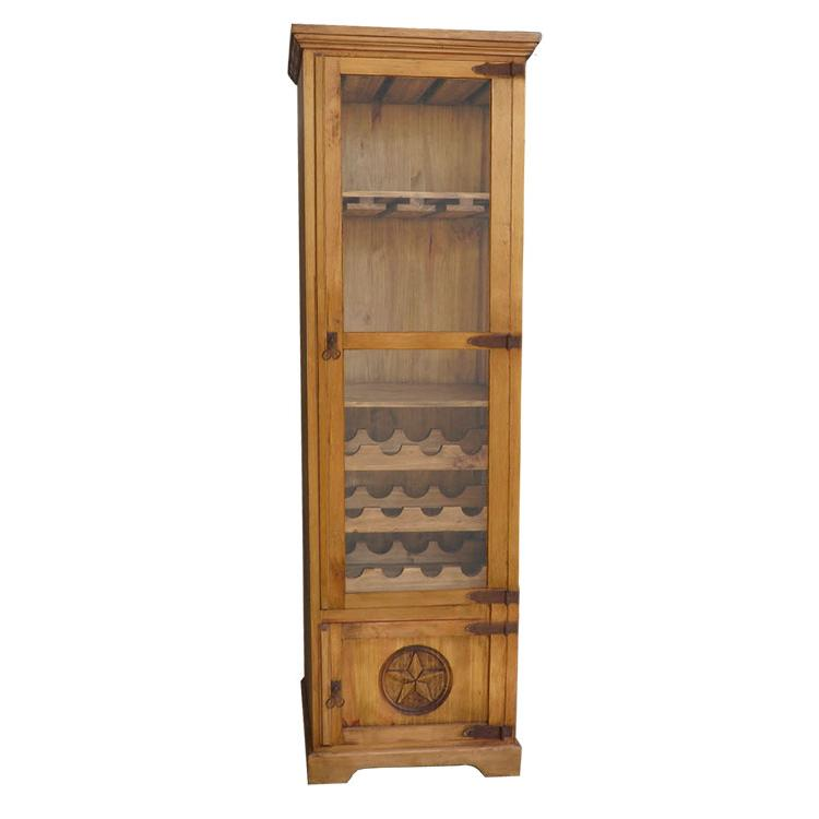 Rustic Pine Wine Cabinet Product Photo