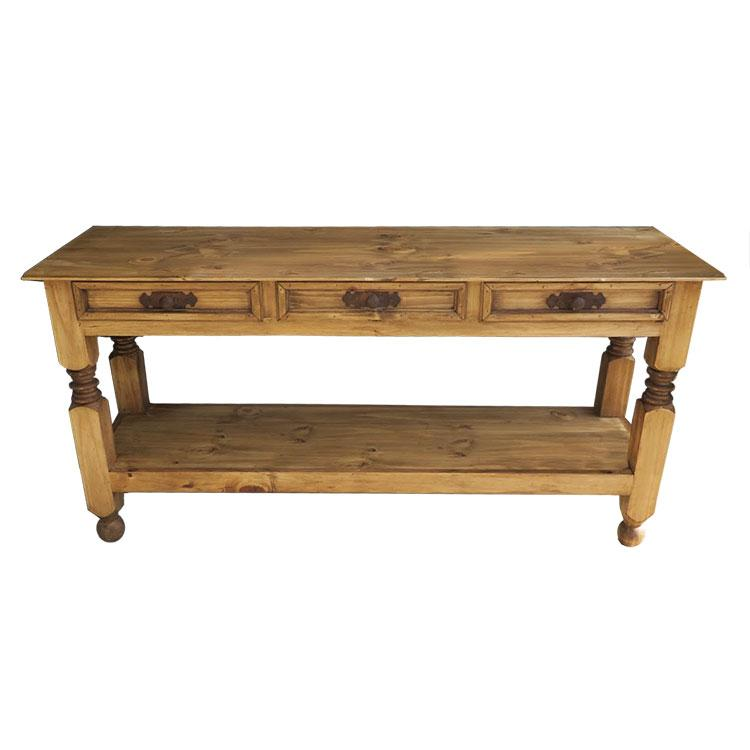 Rustic Pine Large Console Table Product Photo
