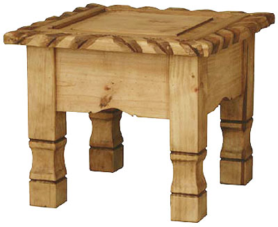 Mexican Rustic Pine Texana End Table