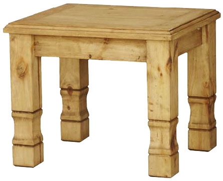 Rustic Pine End Table Beveled Edge Product Photo