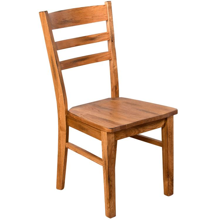 Rustic Oak Ladderback Chair Product Photo