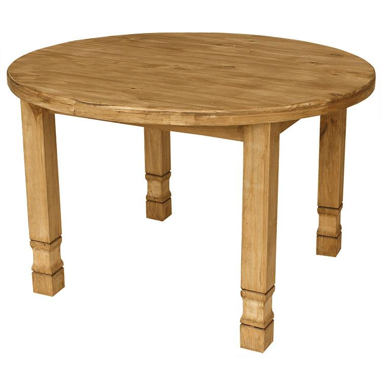 Rustic Pine Small Round Dining Table Bar Product Photo