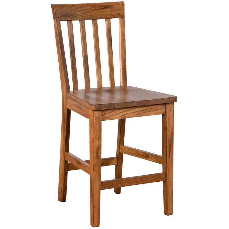 Oak Slatback Barstool Product Photo