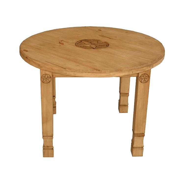 Pine Round Dining Table Product Photo