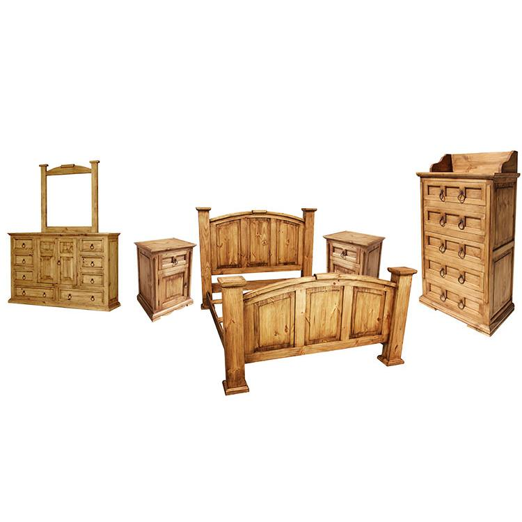 Rustic pine collection tonala bedroom set bedset06 - Rustic bedroom furniture for sale ...