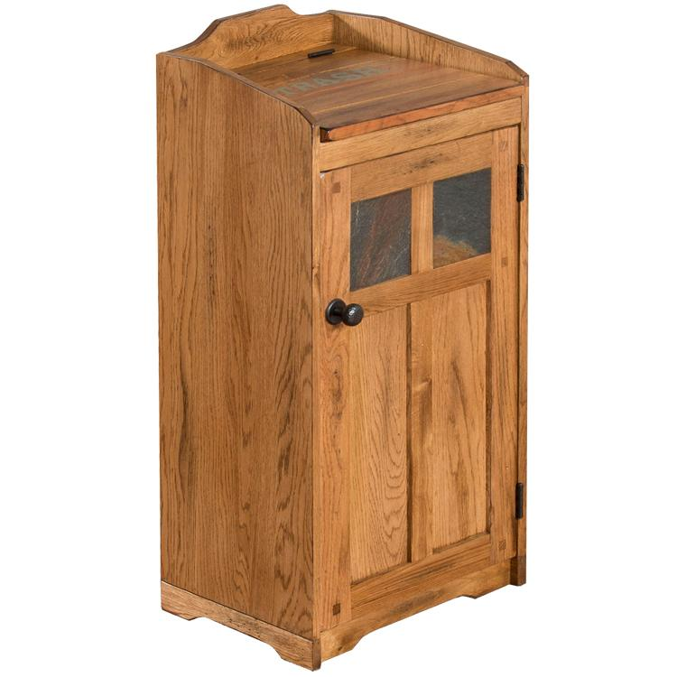 Oak Slate Trash Container Product Photo