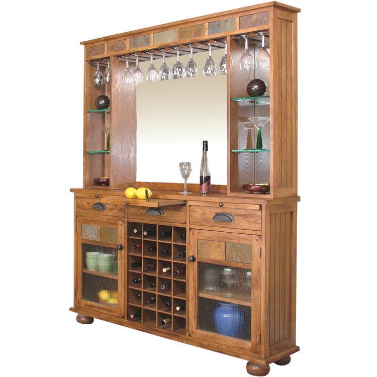 Rustic Oak Slate Server Back Bar Product Photo