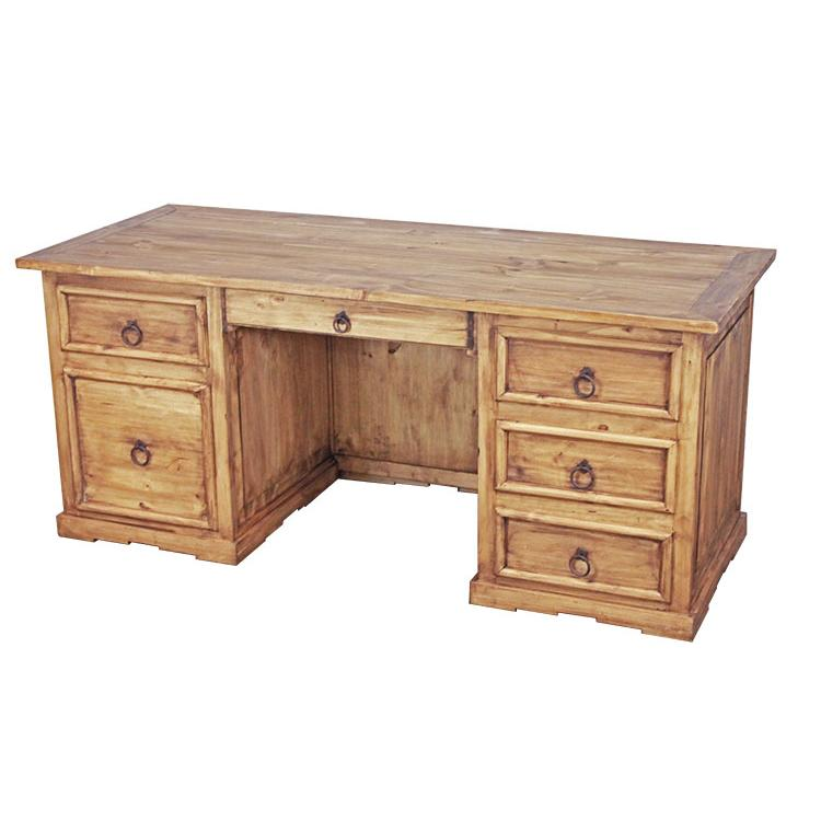 Rustic Pine Executive Desk Drawer Product Photo