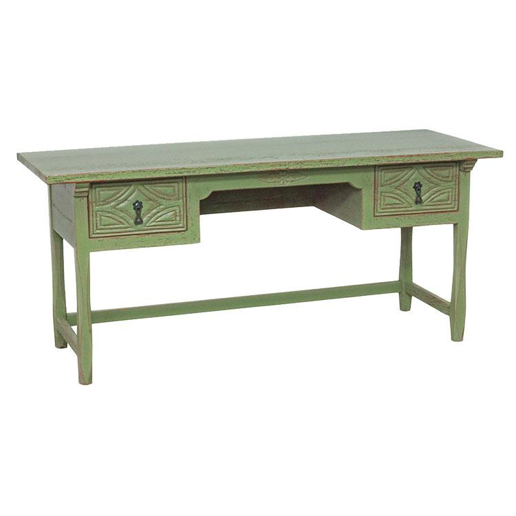 Rustic Desk Green Red Under Product Photo