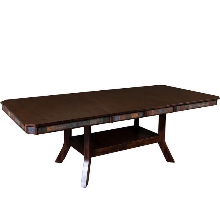 Rustic Santa Fe Adjustable Table w/ Leaf