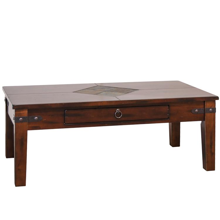Rustic Inlaid Coffee Table Product Photo