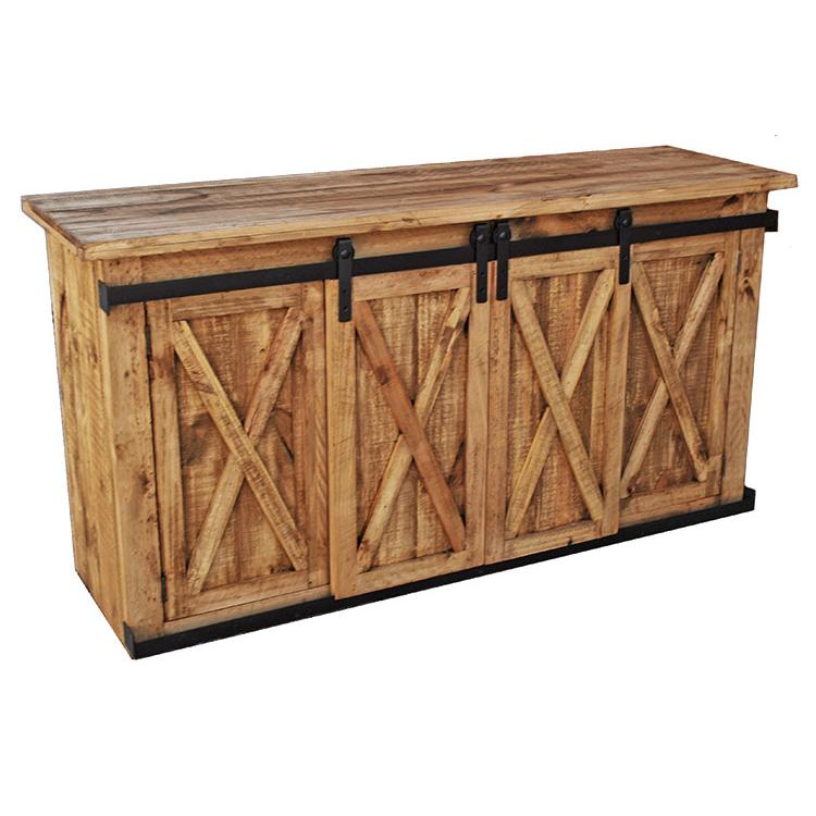 Pine Calabria Sliding Door Tv Stand Product Photo