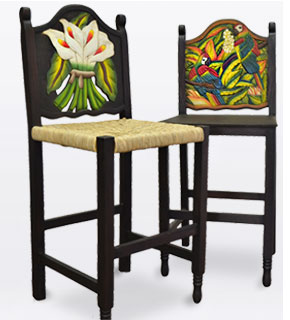 Carved Bar Stools