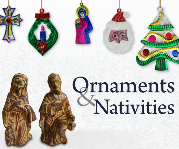 Handmade Christmas Ornaments and Nativities