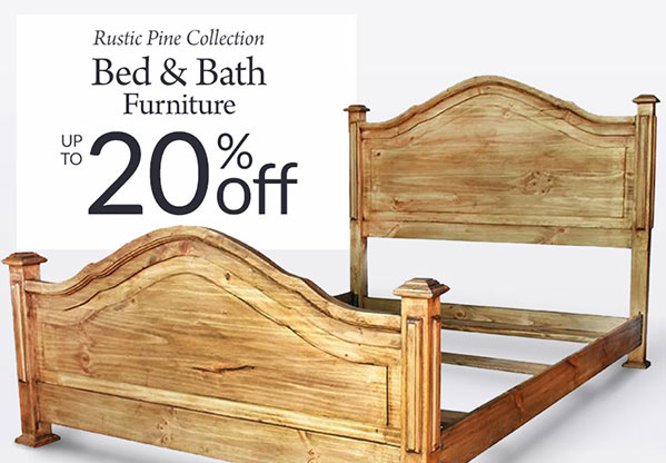 10 20 Off Rustic Pine Bedroom Bathroom Furniture