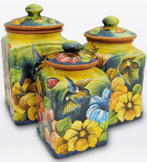 Majolica Kitchen Canisters