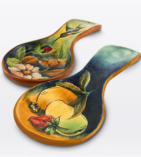 Majolica Spoon Rests