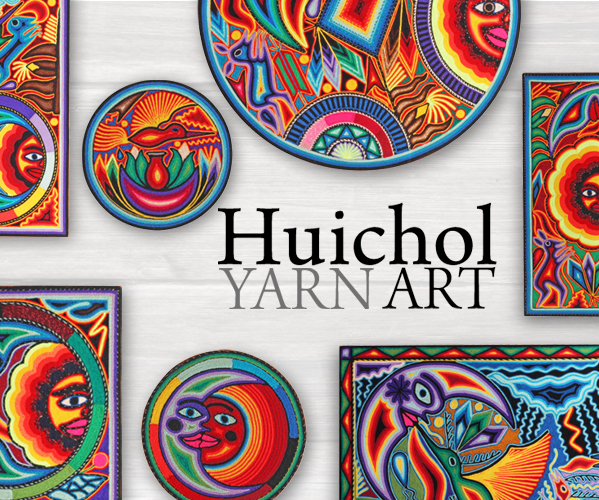 Vibrant Huichol Yarn Paintings