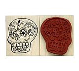 Skull Rubber Stamp