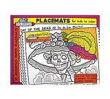Day of the Dead Coloring Placemats & Crayons