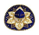 Navy Blue & Gold Charro Sombrero