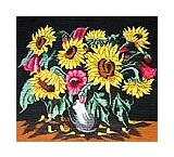 Vase with Sunflowers