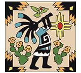 Kokopelli Ceramic Tile