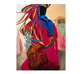 Indigena con Morral Oil Painting on Canvas