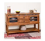 Rustic Oak 2-Drawer Server