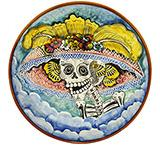 Day of the Dead Small Majolica Platter