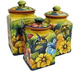 Square Hummingbird Kitchen Canister