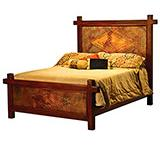 Ganado Bed w/ Copper Panels