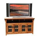 American Mission Oak 56 Four Door TV Console