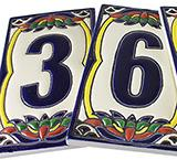 Talavera House Numbers: Talavera Relief